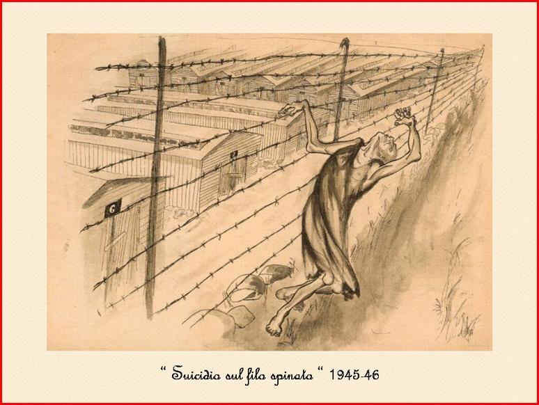 Suicide sur le fil de fer barbelé,  (sur le site d'une école) dans images 20612