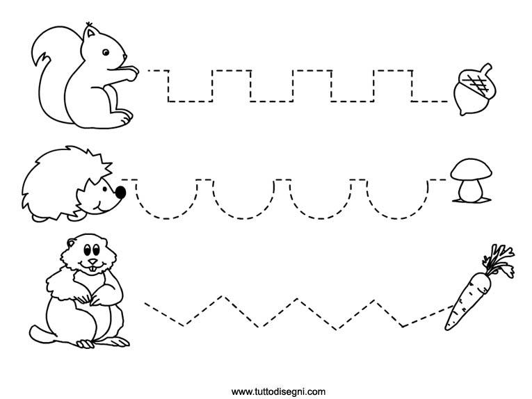 Autunno pregrafismo labirinti e tracciati per la scuola for Schede didattiche natale scuola infanzia
