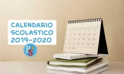 Calendario scolastico 2019-2020