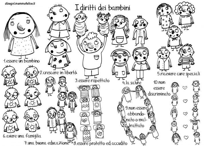 disegni diritti dei bambini