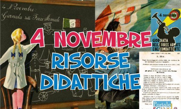 4 novembre risorse didattiche