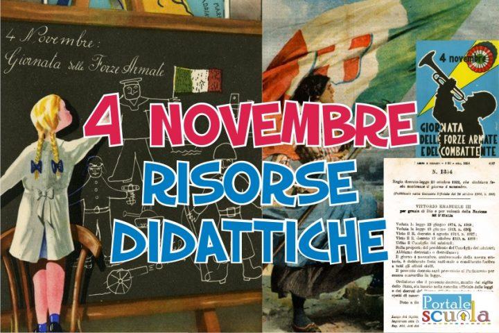 4 novembre schede scuola