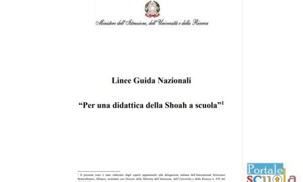 Linee guida nazionali per una didattica della Shoah a scuola